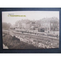 Maastricht 1919 - O.L.Vrouwe Kade met stoomtram