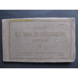 Zutphen ca. 1915 - St.Walburgskerk - mapje met 12 kaarten