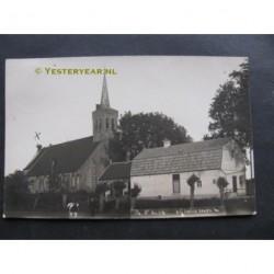 sGravenmoer 1930 - Herv.Kerk en boerderij- fotokaart