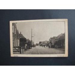 Vlijmen ca. 1915 - Hoofdstraat met tramstation/cafe