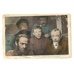 """Hoek van Holland 1907 - 5 redders scheepsramp """"Berlin"""""""