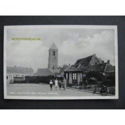 Nieuw Helvoet ca. 1940 - Ned.Herv/Kerk-klokkentoren