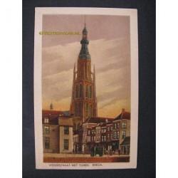 Breda 1945 - Vissestraat met toren - (Vismarktstraat)