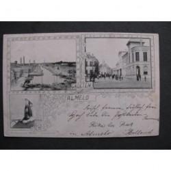 Almelo 1899 - groeten uit - (3 afb.) - voorloper