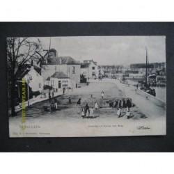 Terneuzen 1900 - Oostzijde v/h Kanaal met brug