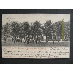 Wommels 1901 - gezicht op de Terp en 't Postkantoor