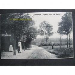 """Lunteren ca. 1915 - op weg naar """"de Konijn"""""""