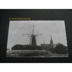 Zeeland 1964 - molen en kerk (N.Br.)