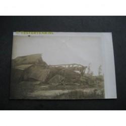 Zeeland / Langenboom 1925 - stormramp - boerderij - fotokaart