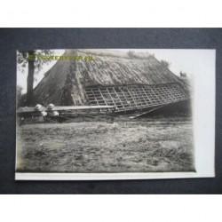 Zeeland / Langenboom 1925 - stormramp - electr.mast-fotokaart