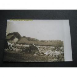 Zeeland / Langenboom 1925 - stormramp - schuur-fotokaart