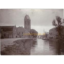 Oudewater ca. 1900 - kabinetfoto - Noorder IJsselkade