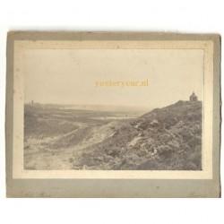 Baarn ca. 1890 - panorama - kerk - rook - kabinetfoto