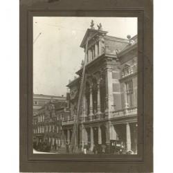 Leiden ca. 1920 - foto Breestraat Stadsgehoorzaal- schilders