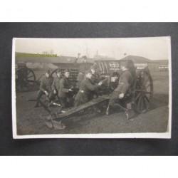 Leuven 1926-Soldaten kanon - bij de kazerne - 1926