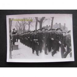 Zwolle ca. 1942 1943 - inspectie der troepen - Kriegsmarine